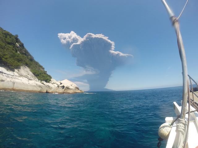 口永良部島噴火しました。