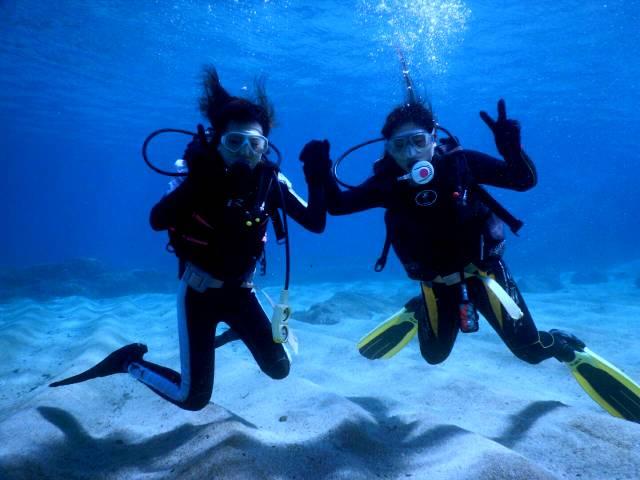 女子チーム、体験ダイビング!